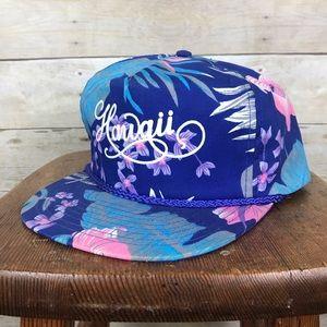 Vintage Hawaii Tropical Hibiscus Print Snap Back